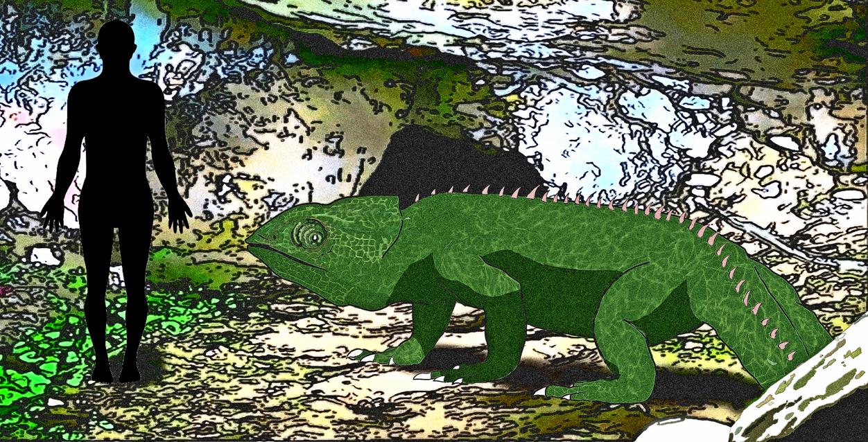 Gigameleon ! ~Chamaeleonidae revenge~ by kamarodu21