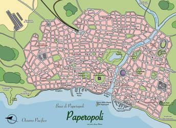 Mappa di Paperopoli - Duckburg Map