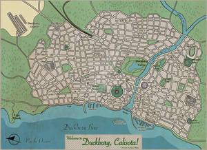 Duckburg Map - Mappa di Paperopoli