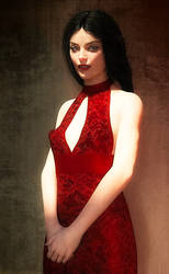 Portrait Lisa T. with Black Hair