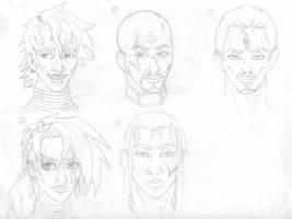 Web Comic Main Cast by Pbuckley