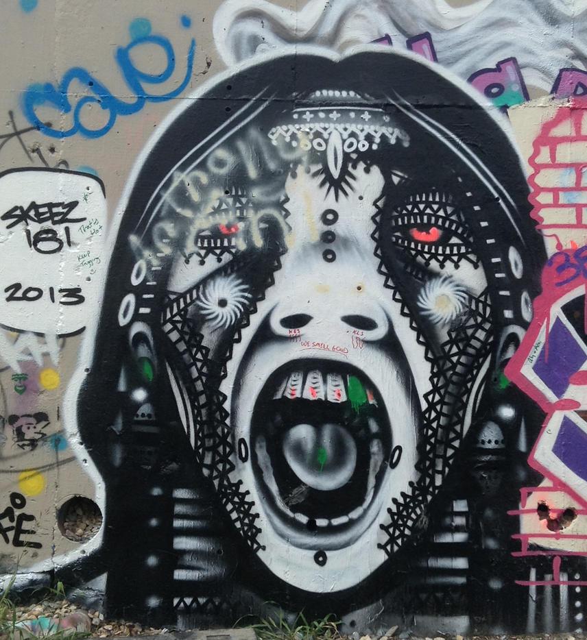 Baylor Street Art Wall: Austin, Texas By OTBWriter On