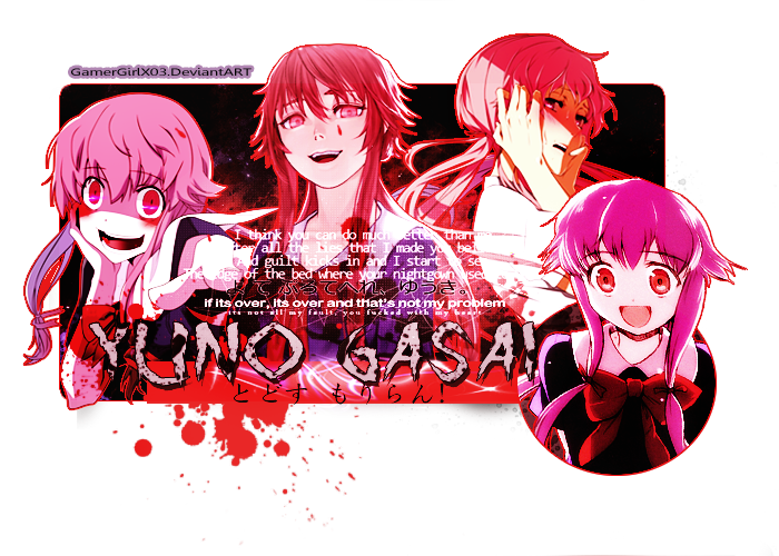 Yuno Gasai by GamerGirlX03