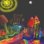 Enchanted Blacklight ForestSun