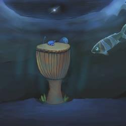 Djembe Underwater by mushroomGOD121