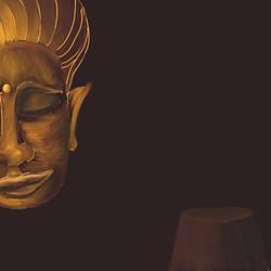 Buddha Face by mushroomGOD121