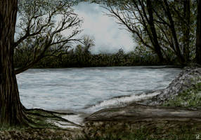 River Bank on a Cloudy Day by MarianthiZ