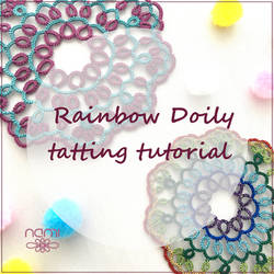Doily Rainbow tatting tutorial