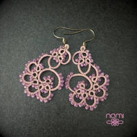 Glow in the dark pink earrings