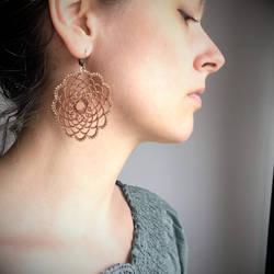 Earrings Coral Mandalas Big