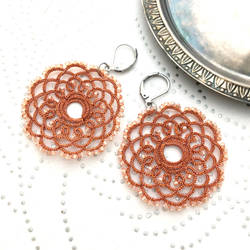 Earrings Coral Mandalas