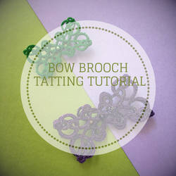 Tatting tutorial Bow Brooch