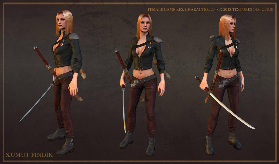 Female Character Presentation 1 by sumutf