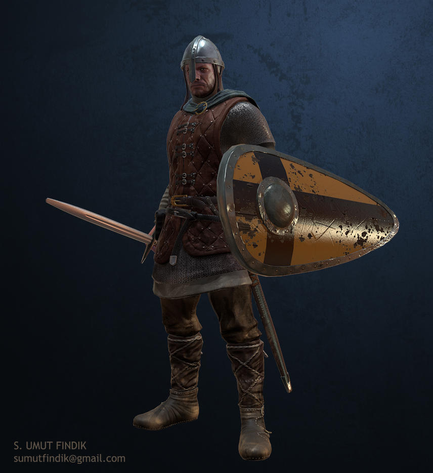 medieval soldier by sumutf
