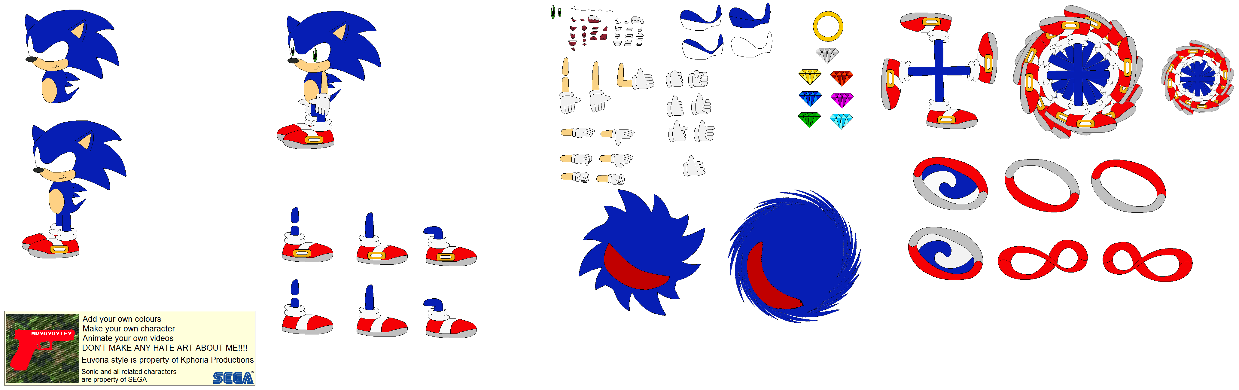 Character Builder Young Sonic The Hedgehog By Mryayayify On Deviantart