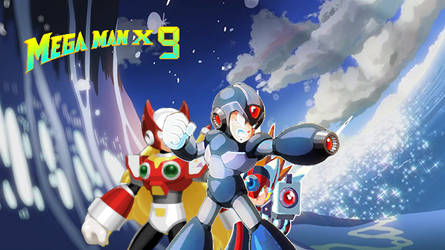 Mega Man X9 American Box Art by Mryayayify