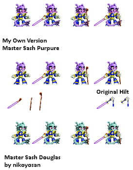 Freedom Planet Fan Sprite - Master Sash's Gear