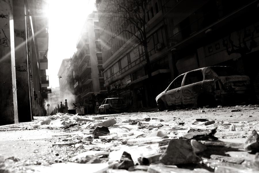 Athens Riots by Katja-Spectraliquid