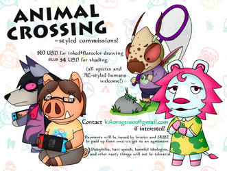 ANIMAL CROSSING commissions!