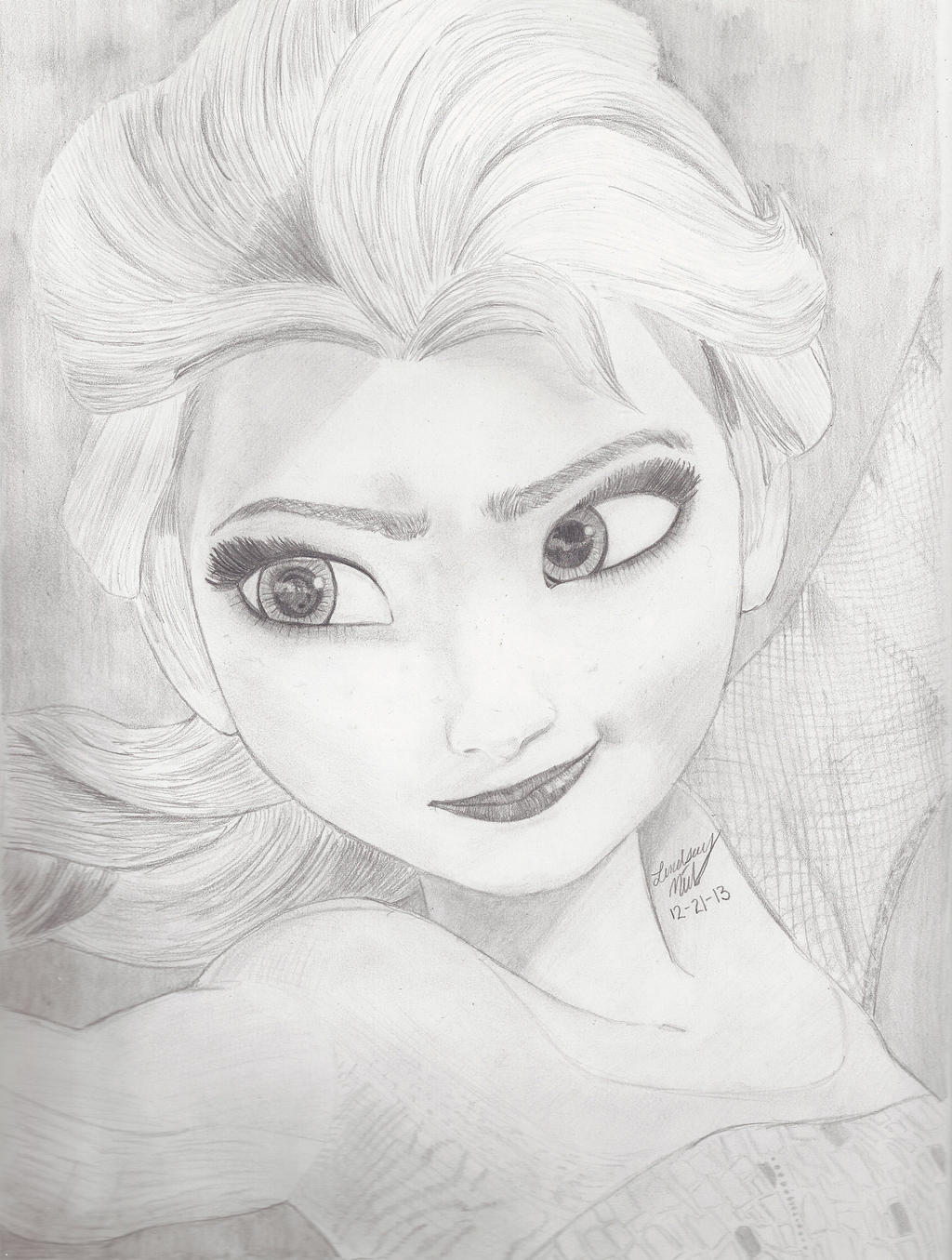 Elsa From Frozen By Mymonsterstuff Fan Art Digital Drawings Movies