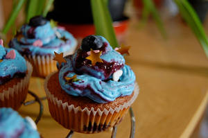Ravenclaw Cupcakes by JuneSunshine