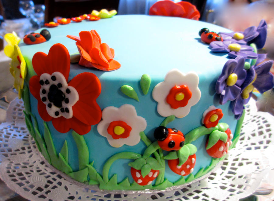 Spring flower cake by keep it sweet on deviantart spring flower cake by keep it sweet mightylinksfo