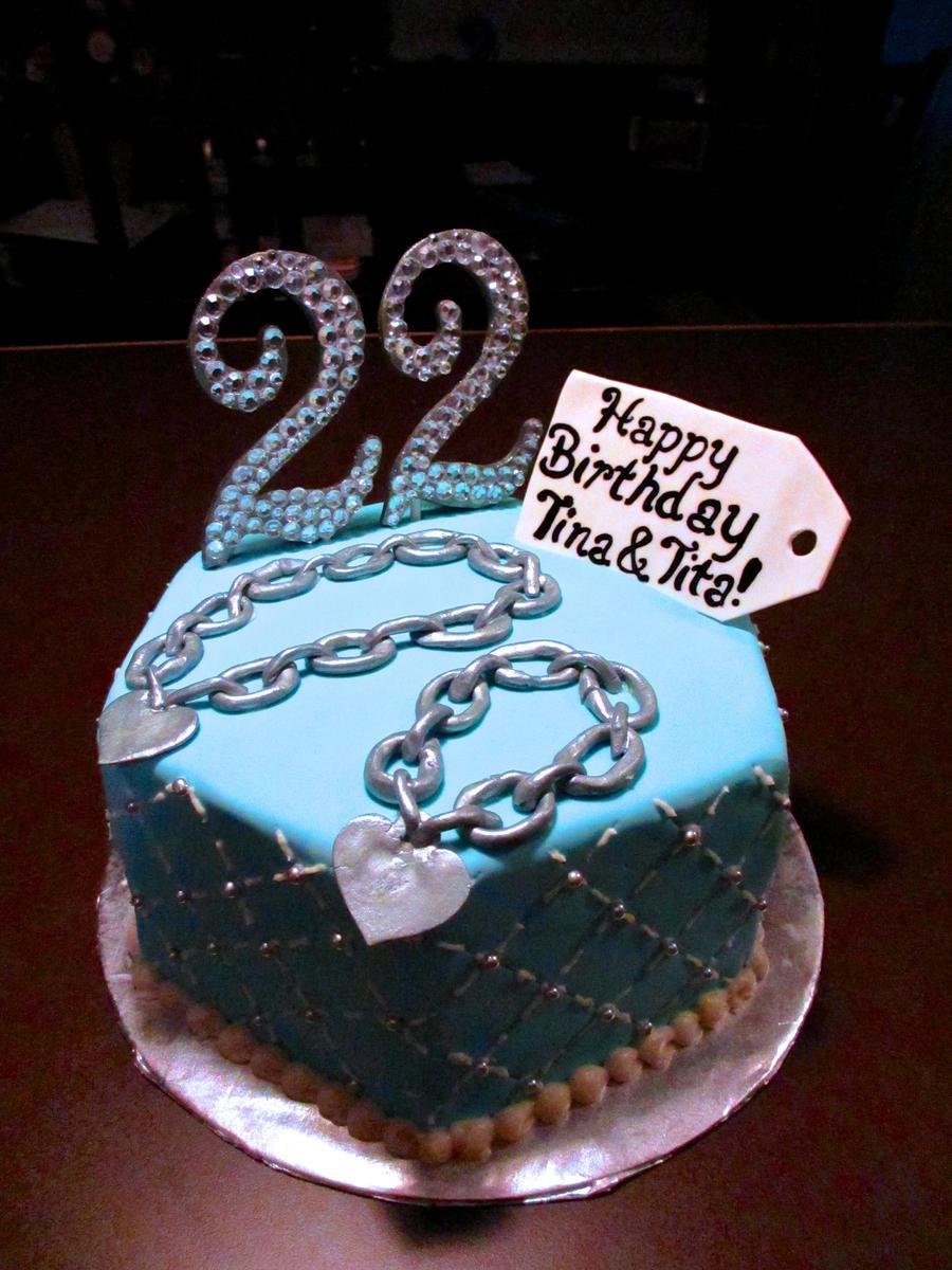 22nd Birthday Tiffanys Cake By Keep It Sweet On Deviantart