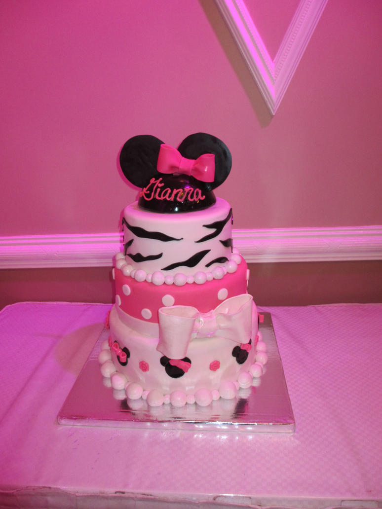 Minnie Mouse Zebra Cake by KeepItSweet on DeviantArt