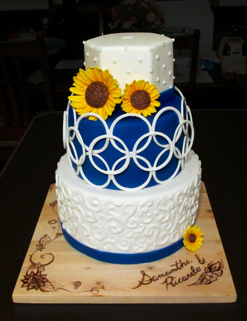 Sunflower Wedding Cake by Keep-It-Sweet