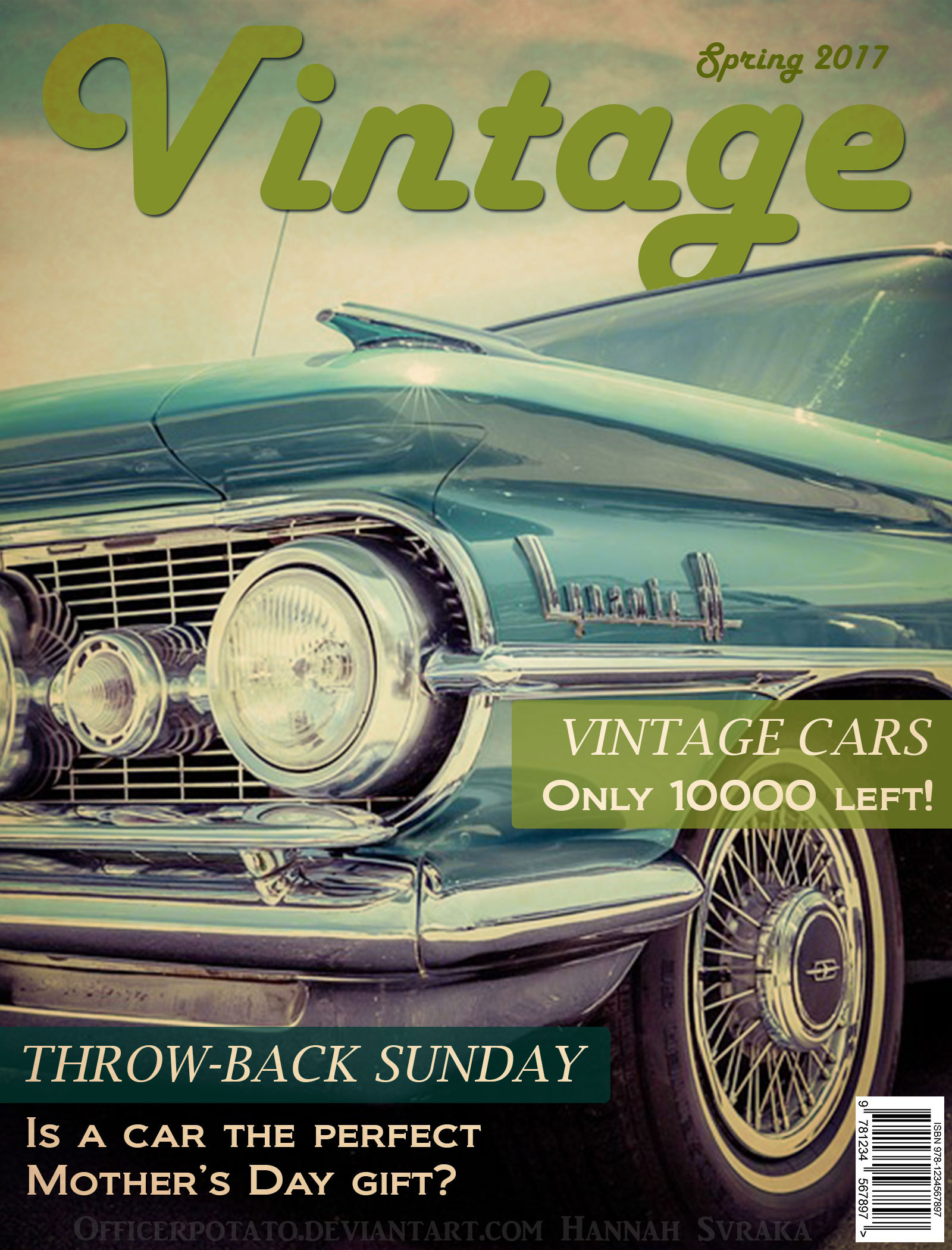Example} Vintage Car Magazine Cover by OfficerPotato on DeviantArt