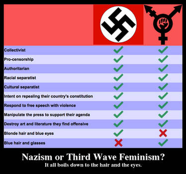 Nazis vs. Intersectional Feminists by Phracker