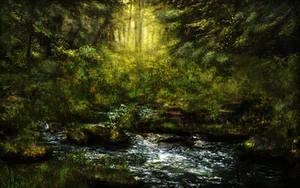 Fantasy forest BG Stock by irinama