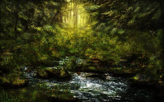 Fantasy forest BG Stock