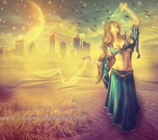 Dancing in the desert by irinama