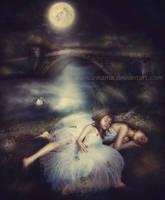 Sleeping in the moonlight by irinama