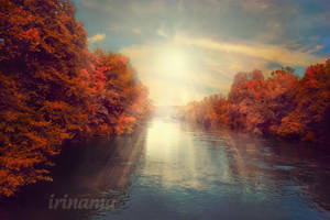 River in autumn by irinama