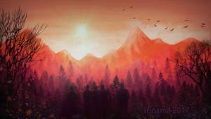 red mountains by irinama