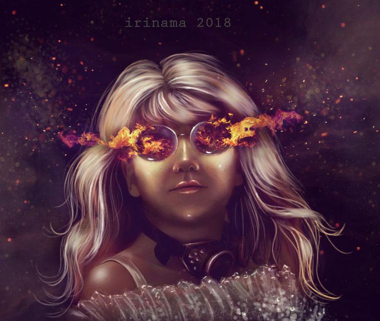 Goddess of fire by irinama