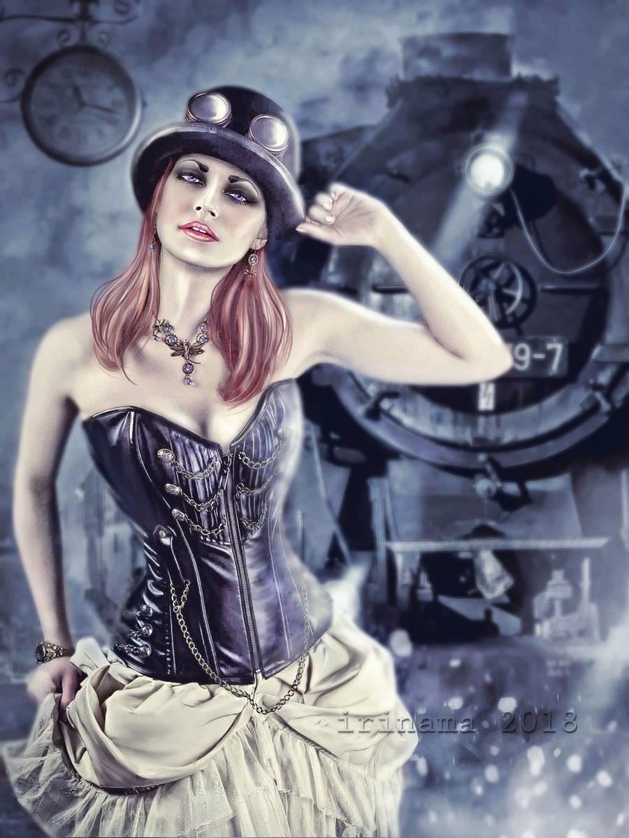 Arrival Steampunck by irinama