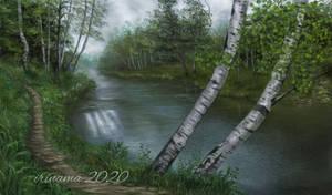 Rain in the woods
