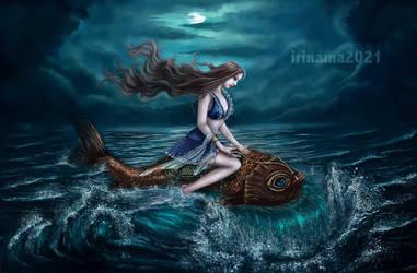 Through the waves