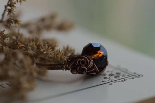 Honey Crystal Ring