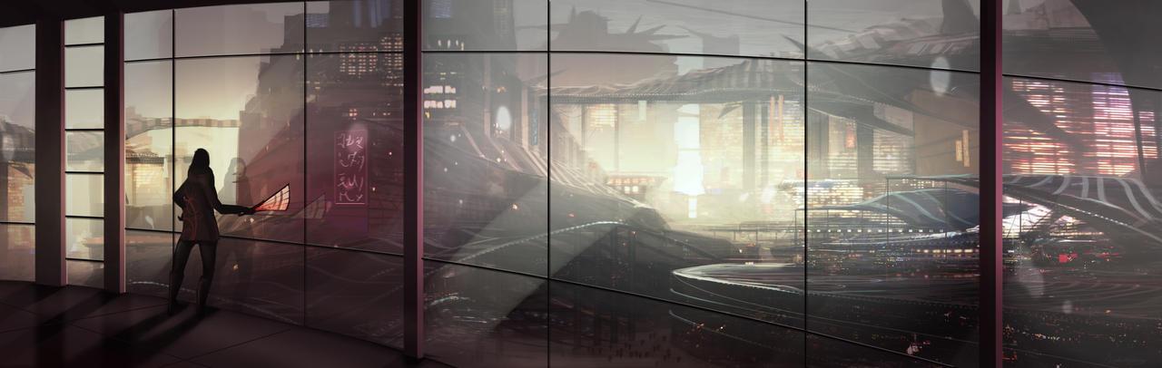 Scifi scene by nimrohil