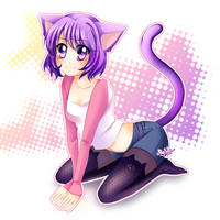 Catgirl Miya by MiyaSekaia