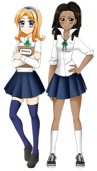 Character Designs: Katie and Rachel