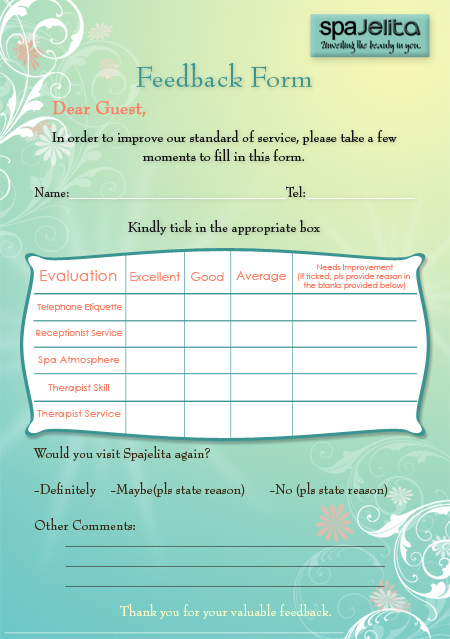 Spa Feedback Form By Manoolita On Deviantart