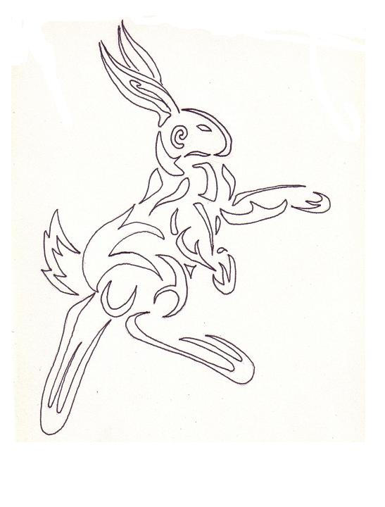 Rabbit Tattoo by ~Quwiki on deviantART