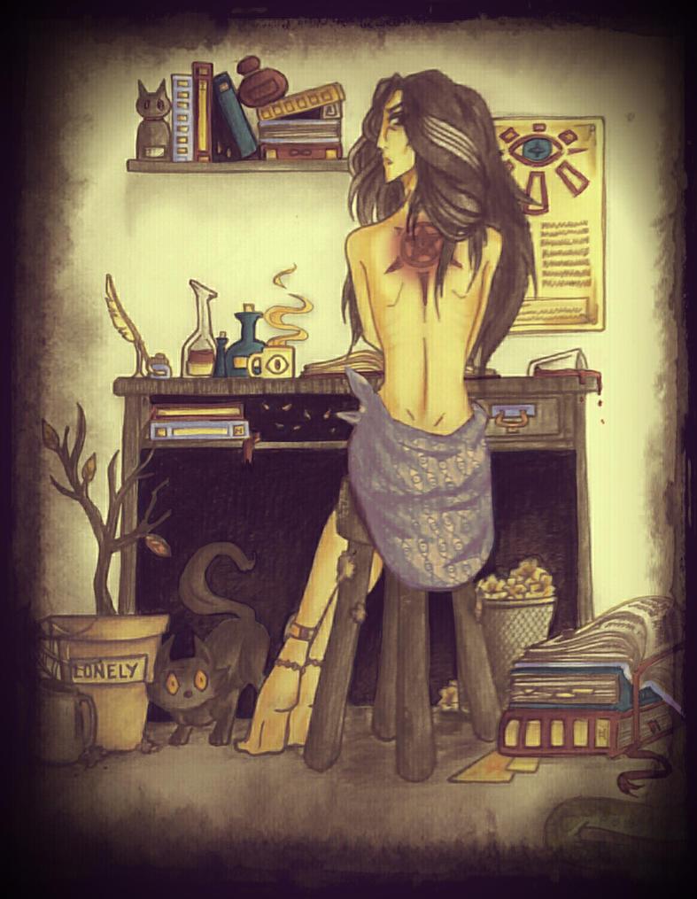The scientist's tattoo by Alicespirit