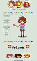 Frisk non-core code {F2U} by SmolKitteh-Chara