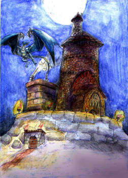 OLD ART  Dragon Fortress